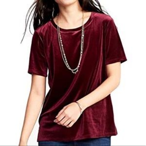 Old navy relaxed fit velvet top xl